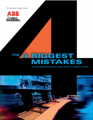 4 Biggest Mistakes In Instrumentation And How To Avoid Them