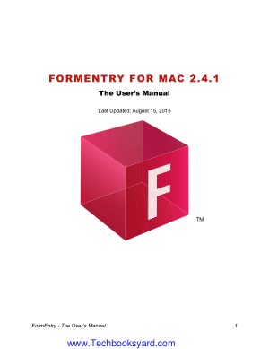 FormEntry for MAC 241User Manual
