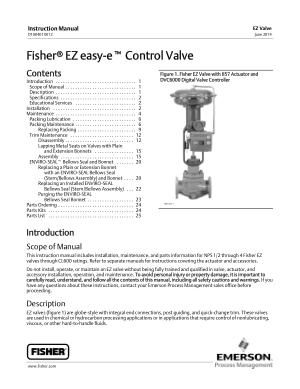 fisher ez valve instruction manual