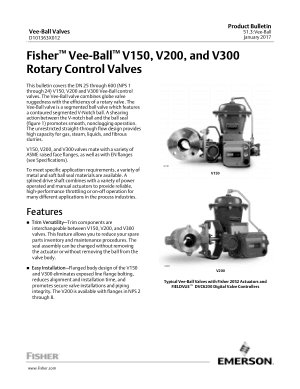 Fisher Vee-Ball V150 V200 and V300 Rotary Control Valves