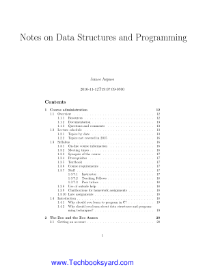 Notes on Data Structures and Programming Techniques by James Aspnes