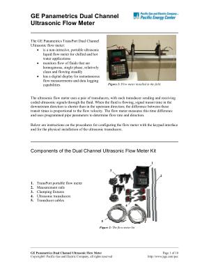 GE Panametrics Dual Channel Ultrasonic Flow Meter