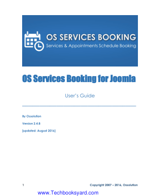 OS Services Booking for Joomla Users Guide