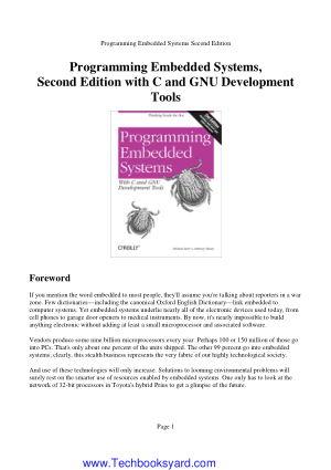 Programming Embedded Systems Second Edition with C and GNU Development Tools