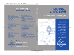 Industrial Automation Pocket Guide