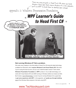 WPF Learner Guide to Head First C#