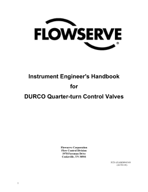 instrument engineers handbook for durco quarter-turn control valves