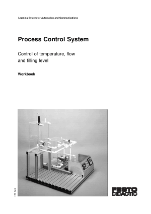 process control system control of temperature flow and filling level