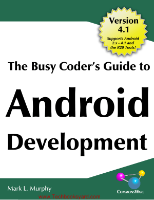 The Busy Coders Guide to Android Development by Mark L Murphy