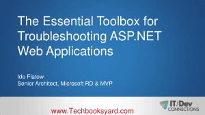The Essential Toolbox for Troubleshooting ASP.NET Web Applications