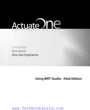 Using BIRT Studio iHub Edition