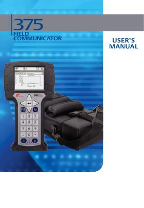 user manual 375 field communicator