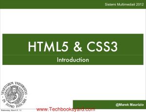 HTML5 and CSS3 Introduction