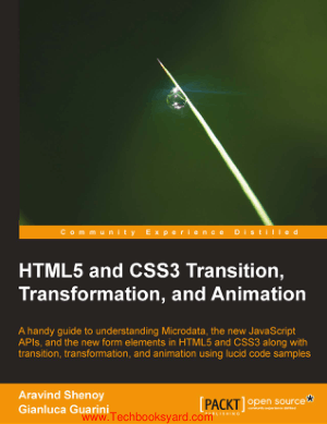 HTML5 and CSS3 Transition Transformation and Animation By Aravind Shenoy and Gianluca Guarini