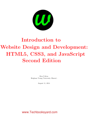 Introduction to Website Design and Development HTML5 CSS3 and JavaScript Second Edition by Don Colton