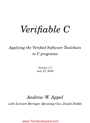 Verifiable C Applying the Verified Software Toolchain to C programs