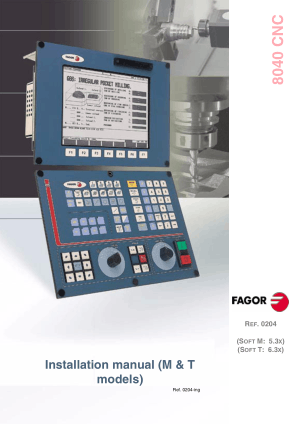 CNC 8040 Installation Manual M and T Models