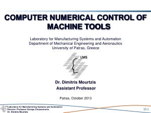 Computer Numerical Control Machine Tools