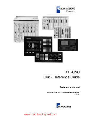 MT CNC Quick Reference Guide
