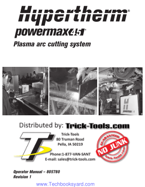 Plasma arc cutting system
