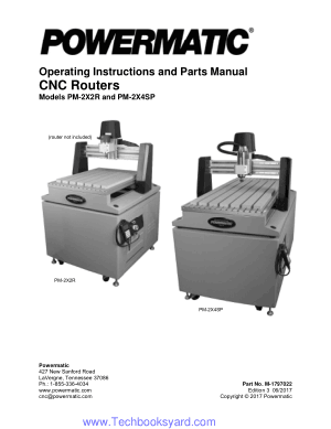 Operating Instructions and Parts Manual CNC Routers Models PM-2X2R and PM-2X4SP