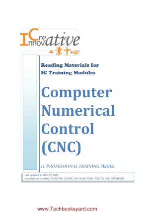 Reading Materials for IC Training Modules Computer Numerical Control CNC
