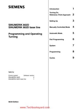 SINUMERIK 802D SINUMERIK 802D base line Programming and Operating Turning