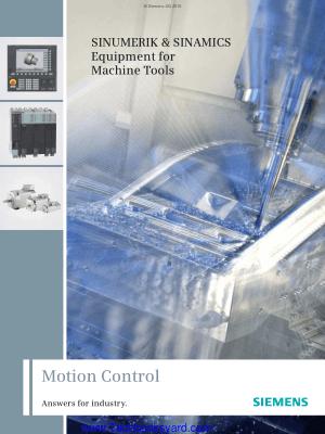 SINUMERIK and SINAMICS Equipment for Machine Tools