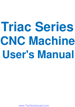 Triac Series CNC Machine Users Manual