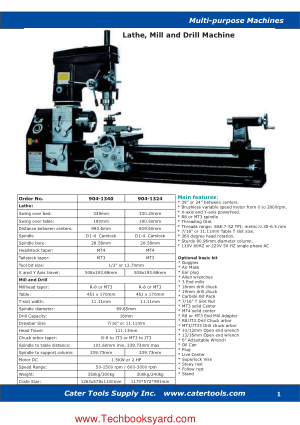 Multipurpose Machines Lathe Mill and Drill Machine