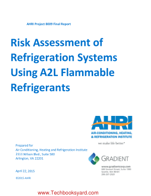 Risk Assessment of Refrigeration Systems Using A2L Flammable Refrigerants