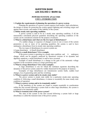 power system analysis question bank with answers