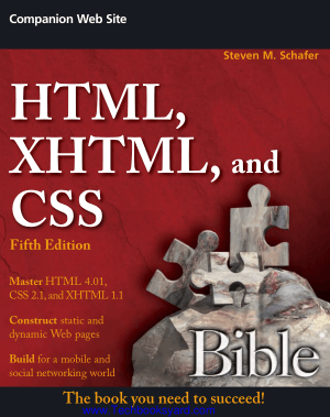 HTML XHTML and CSS Bible 5th Edition