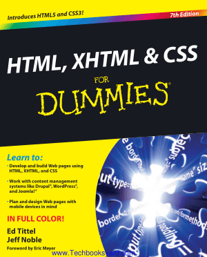 HTML XHTML and CSS for Dmmies 7th Edition