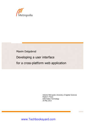 Maxim Dolgobrod Developing A User Interface For A Cross Platform Web Application