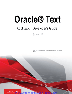 Oracle Text Application Developers Guide