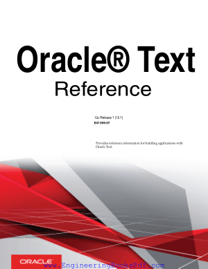 Oracle Text Reference