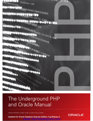 The Underground PHP and Oracle Manual