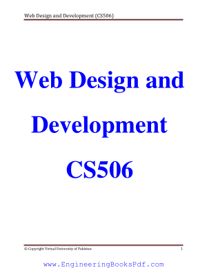 Web Design and Development CS506