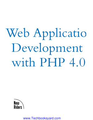 Web Applications Development With PHP 4 0 EBook