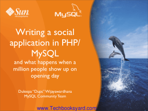 Writing a social application in PHP MySQL and what happens when a million people show up on opening day