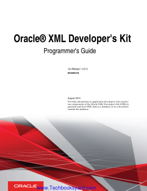 Oracle XML Developers Kit Programmers Guide