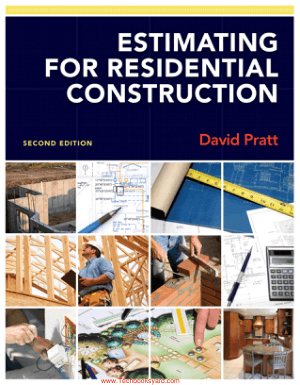 Estimating For Residential Construction Second Edition By David J Pratt