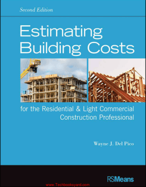 Estimating Building Costs for the Residential and Light Commercial Construction Professional By Wayne J Delpico