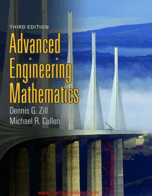 Advanced Engineering Mathematics 3rd Edition By Dennis G Zill and Michael R Cullen