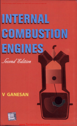 Internal Combustion Engine 2nd Edition By V Ganeshan