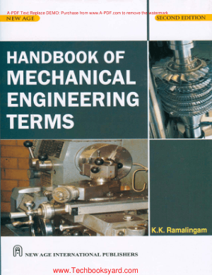 Handbook of Mechanical Engineering Terms By K K Ramalingam