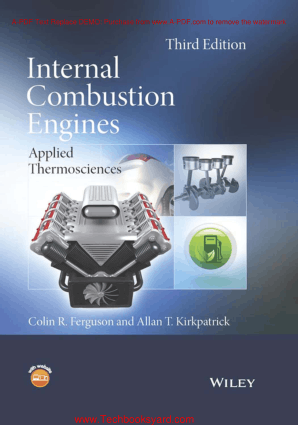 Internal Combustion Engines Applied Thermosciences Third Edition By Colin R. Ferguson And Allan T Kirkpatrick
