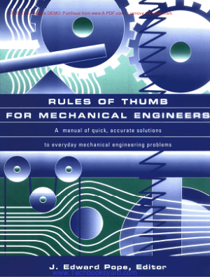 Rules of THUMEI for Mechanical Engineers