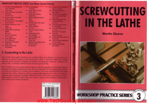 Workshop Practice Series 03 Screwcutting in the Lathe